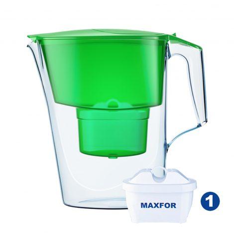 cana-filtrare-aquaphor-time-28-l-verde-cu-capac-flip-top-si-contor-mecanic