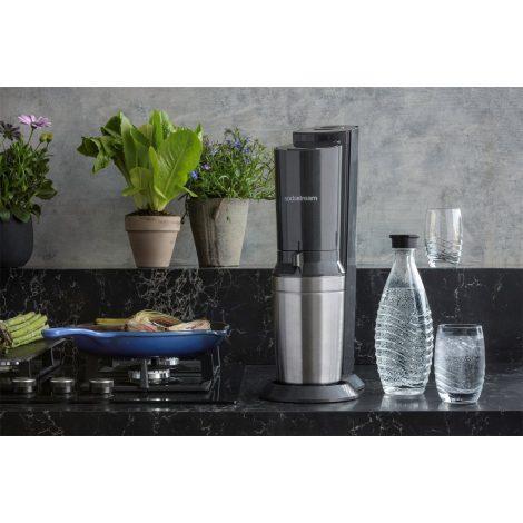 Aparat carbonatare Crystal, Metallic Black - SodaStream