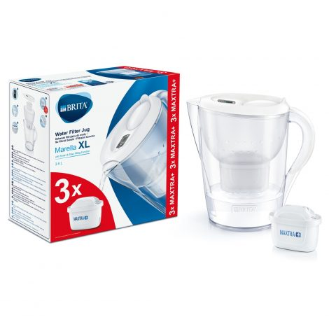Starter pack BRITA Marella XL 3,5 L (white) + 3 filtre Maxtra+
