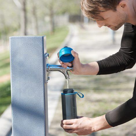 Sticla filtranta BRITA FillsiGo Active 600 ml (blue)