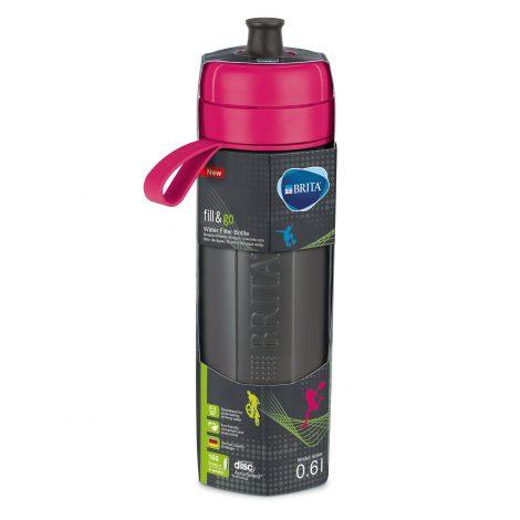 Sticla filtranta BRITA FillsiGo Active 600 ml (pink)