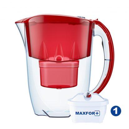cana-filtrare-aquaphor-jasper-28-l-rosu-cu-1-cartus-maxfor-b25-capac-flip-top-si-contor-mecanic